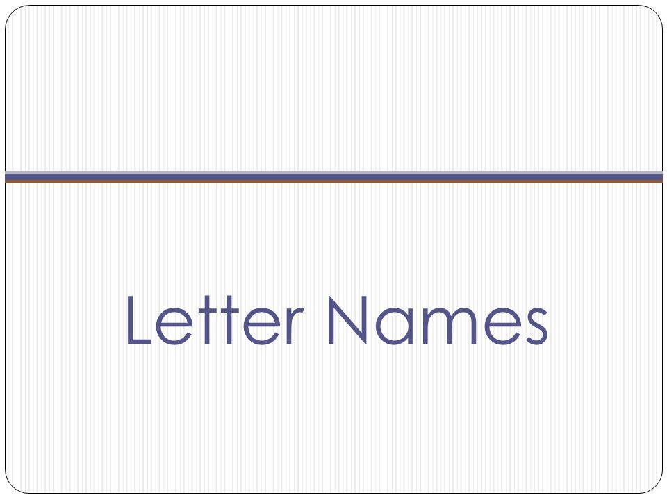 Letter Names
