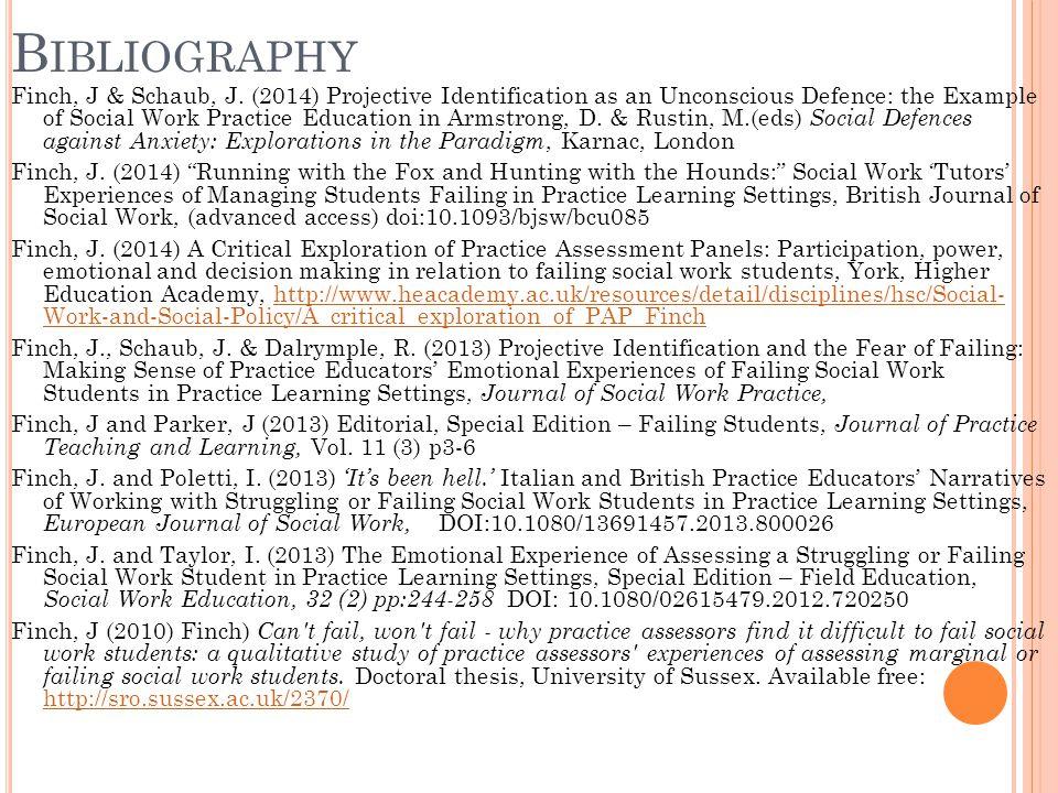 B IBLIOGRAPHY Finch, J & Schaub, J.
