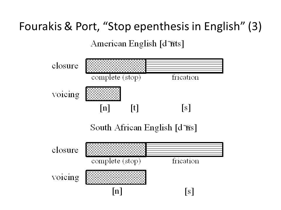 Fourakis & Port, Stop epenthesis in English (3)