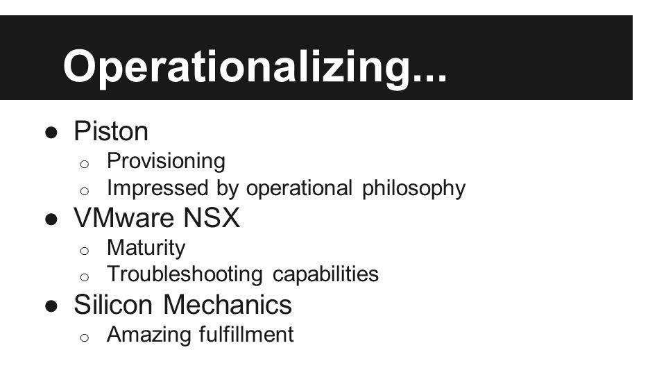 Operationalizing...