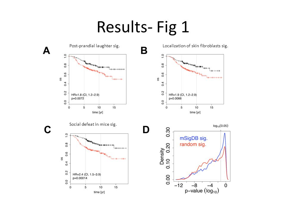 Results- Fig 1 Post-prandial laughter sig.Localization of skin fibroblasts sig.