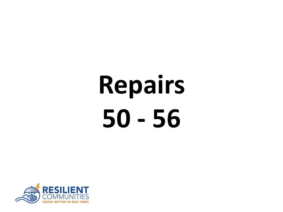 Repairs 50 - 56