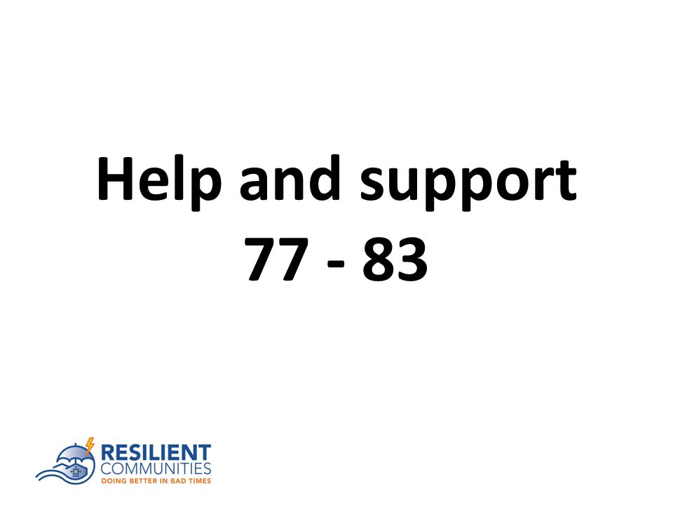 Help and support 77 - 83