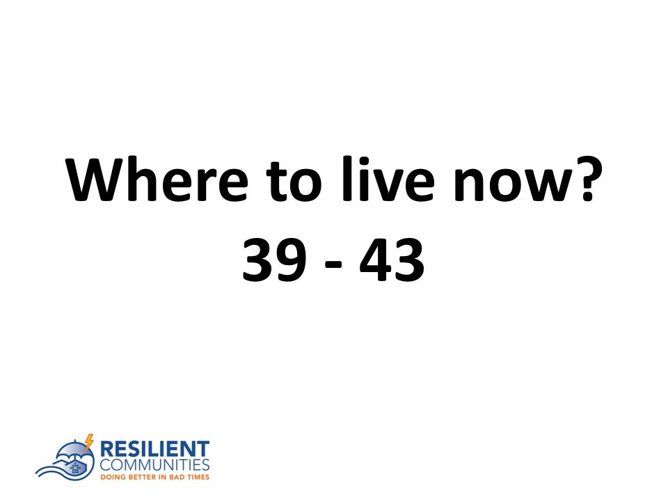 Where to live now 39 - 43