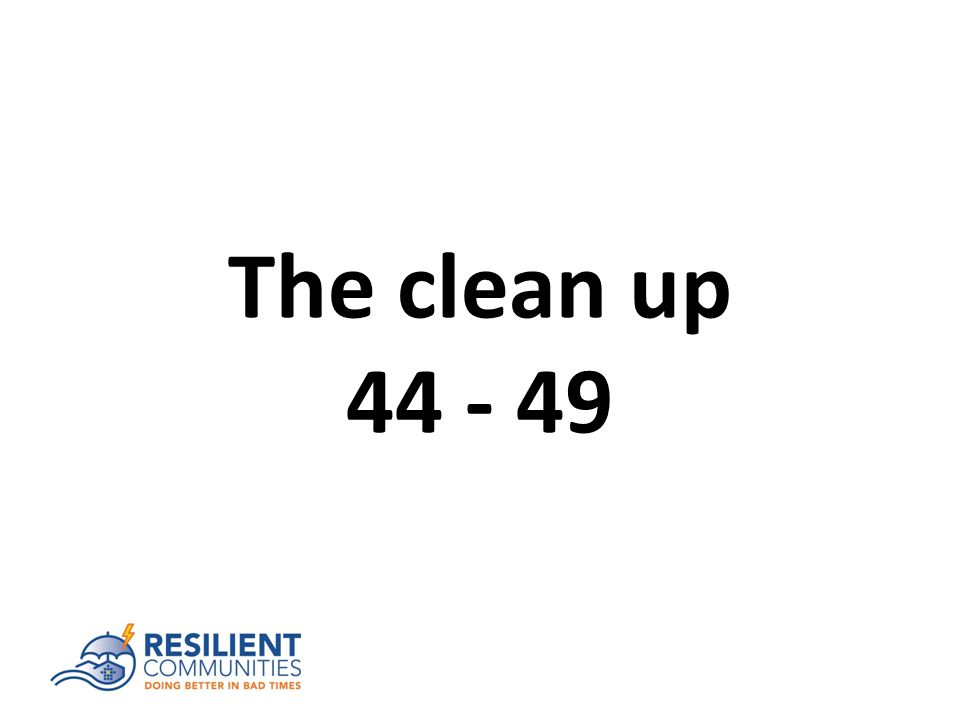 The clean up 44 - 49