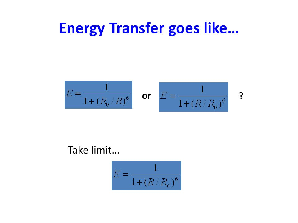 Energy Transfer goes like… or? Take limit…