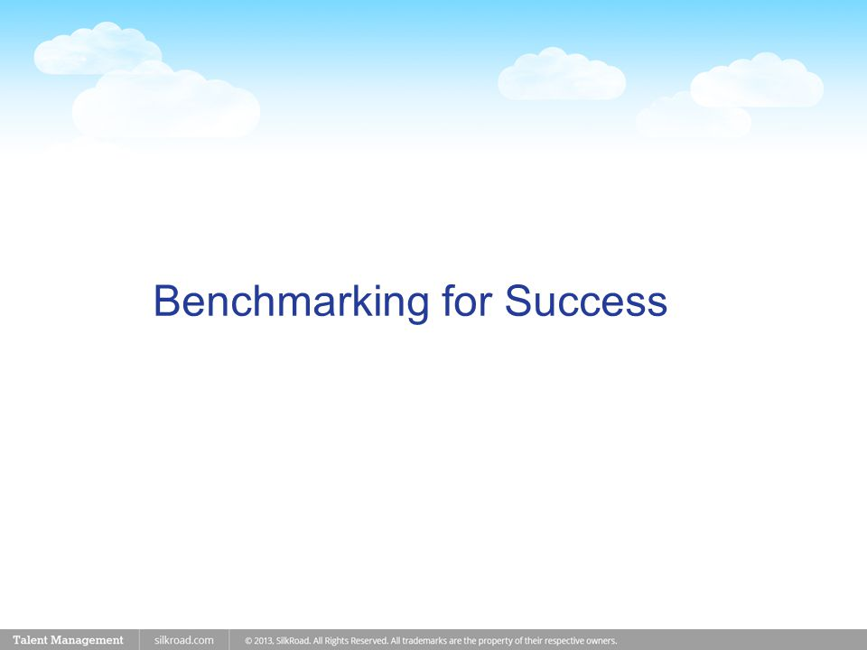 Benchmarking for Success