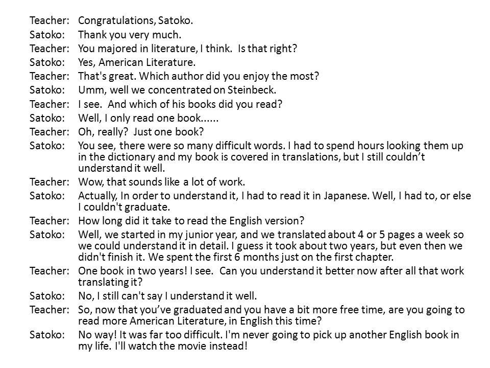 Why don't most EFL teachers teach 'literature'.