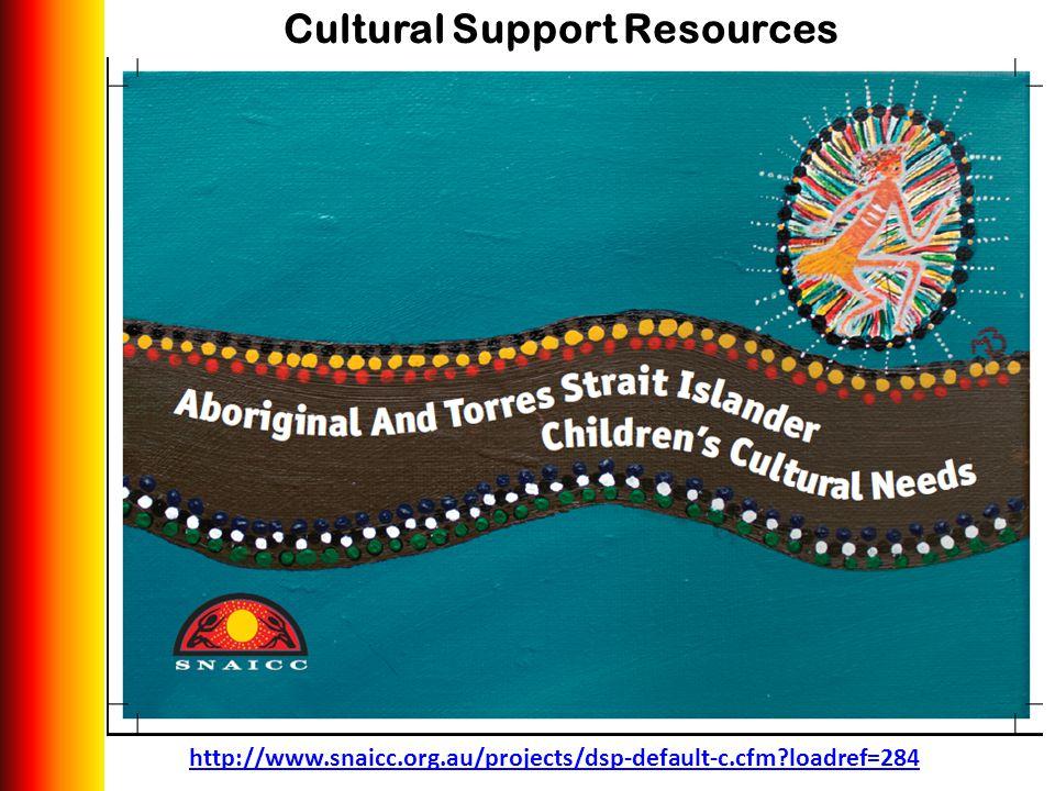 Cultural Support Resources http://www.snaicc.org.au/projects/dsp-default-c.cfm?loadref=284