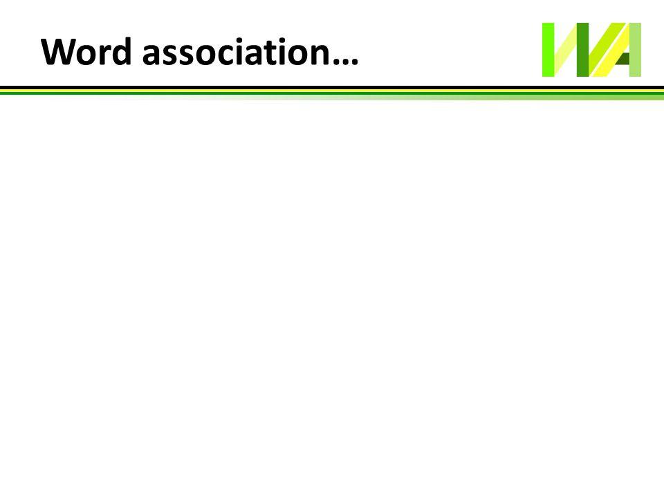 Word association…