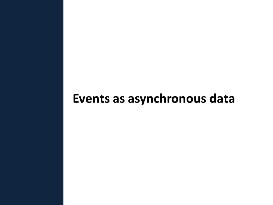 Events as asynchronous data