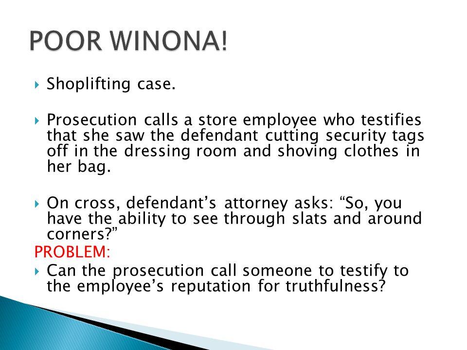  Shoplifting case.