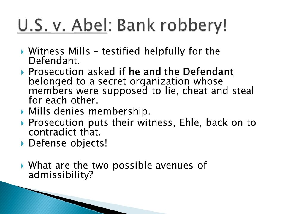  Witness Mills – testified helpfully for the Defendant.