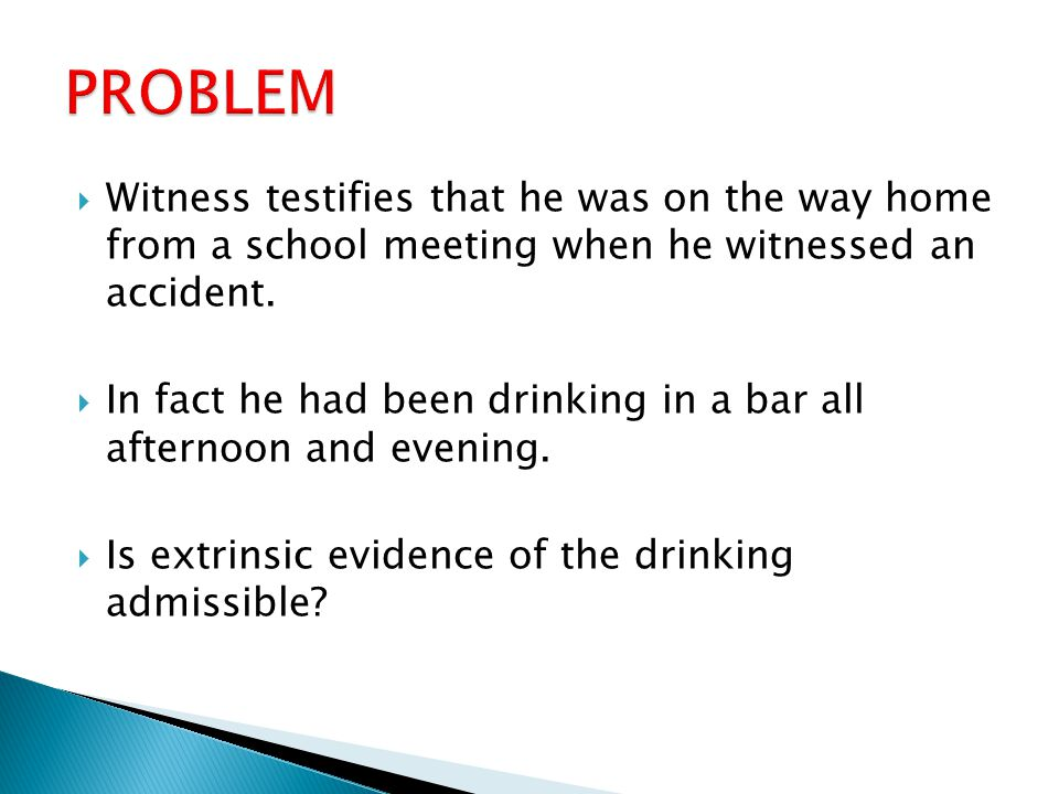  Witness testifies that he was on the way home from a school meeting when he witnessed an accident.