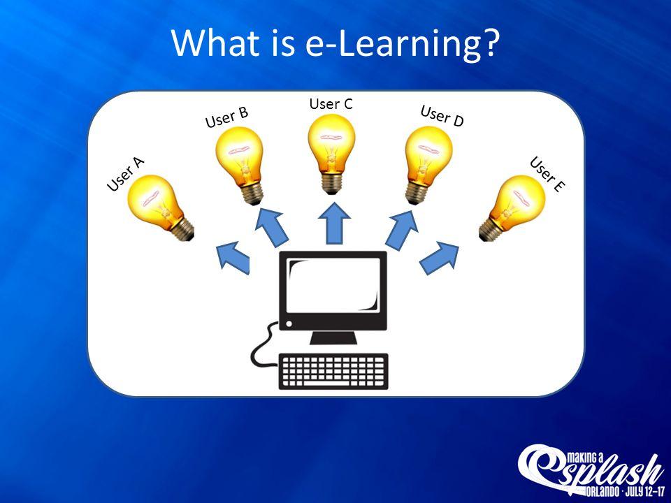 User A User E User C User B User D What is e-Learning?
