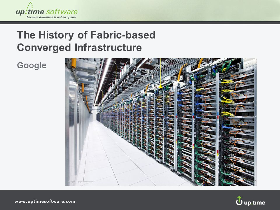 www.uptimesoftware.com The History of Fabric-based Converged Infrastructure Google