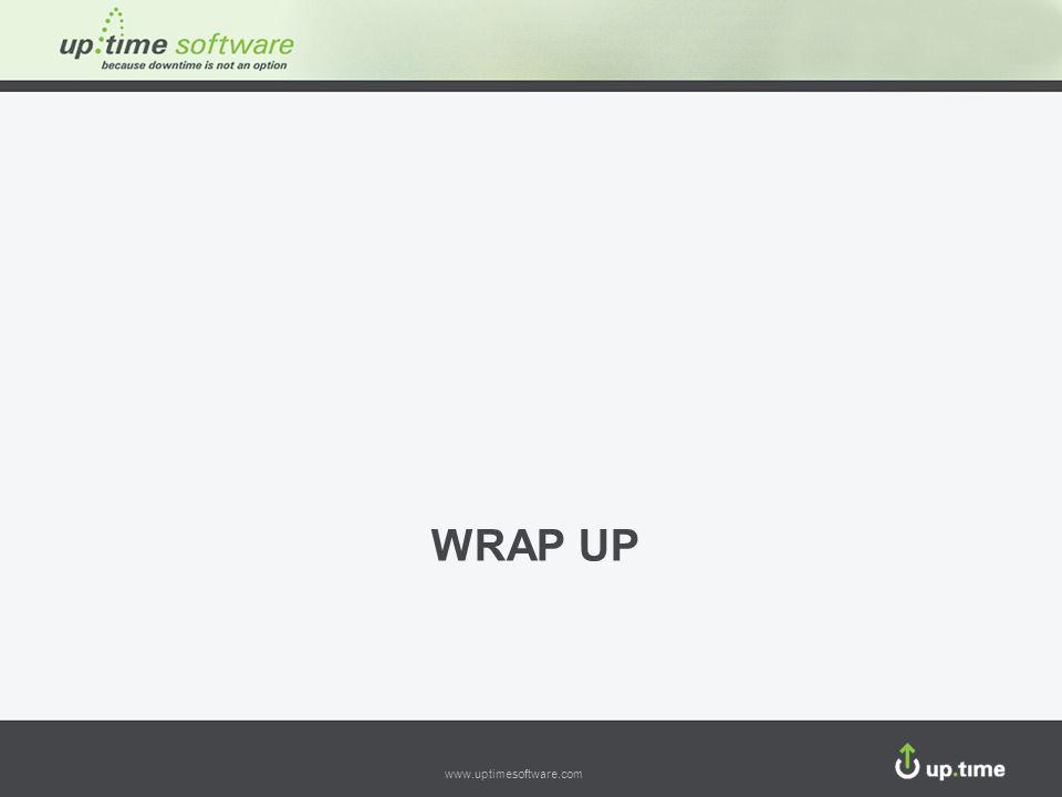 www.uptimesoftware.com WRAP UP