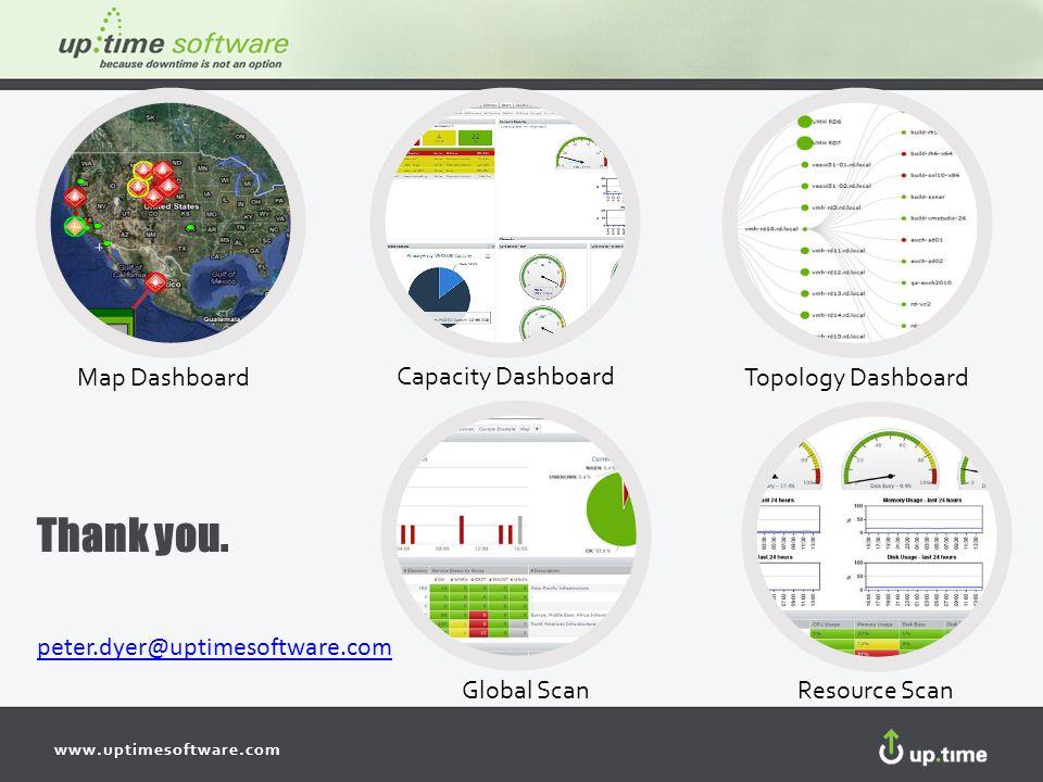 www.uptimesoftware.com Map DashboardTopology Dashboard Capacity Dashboard Global ScanResource Scan peter.dyer@uptimesoftware.com Thank you.