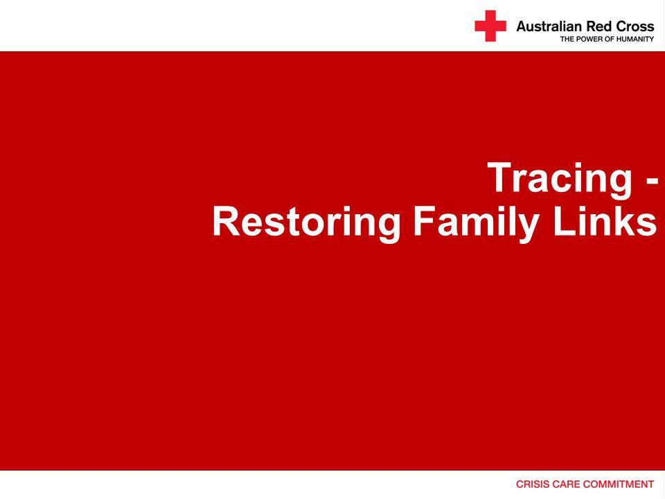 Tracing - Restoring Family Links