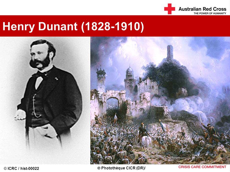 Henry Dunant (1828-1910) © ICRC / hist-00022  Photothèque CICR (DR)/
