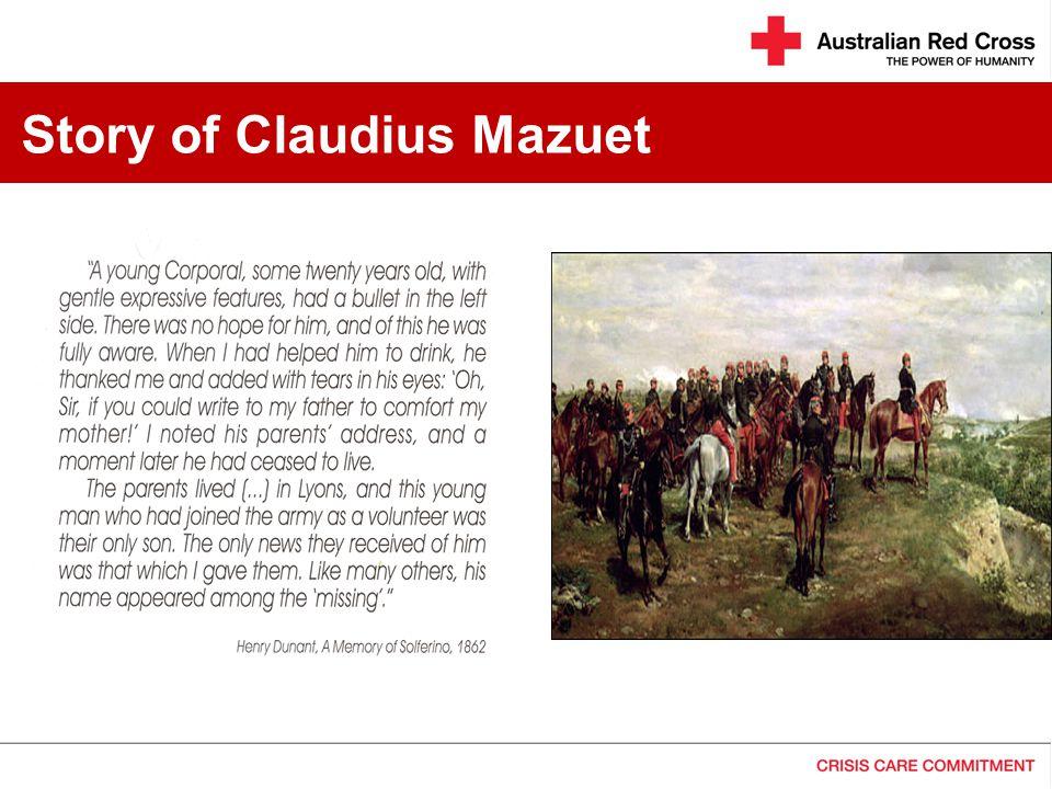 Story of Claudius Mazuet