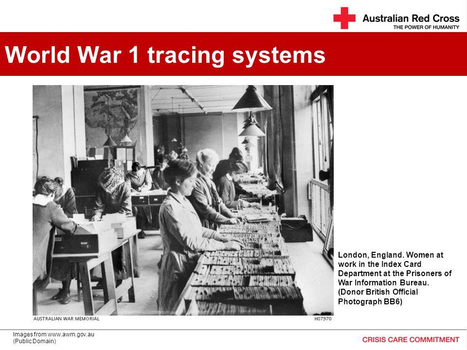 ww1 World War 1 tracing systems London, England.
