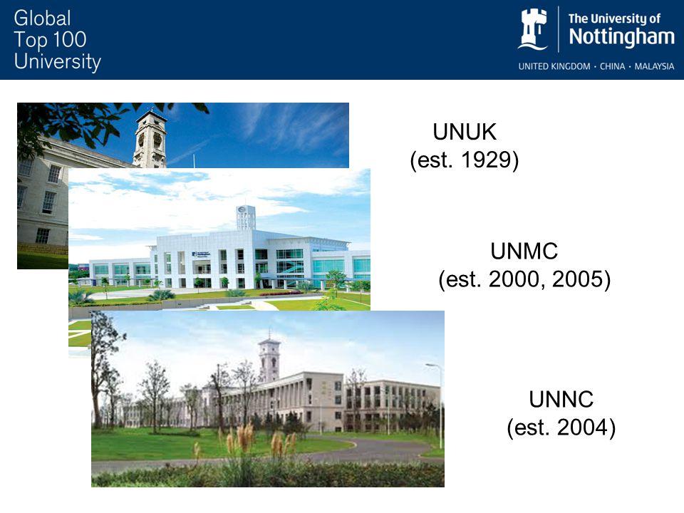 UNUK (est. 1929) UNMC (est. 2000, 2005) UNNC (est. 2004)