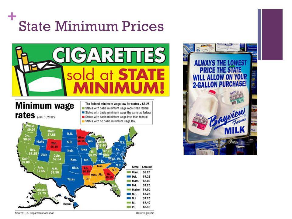 + State Minimum Prices