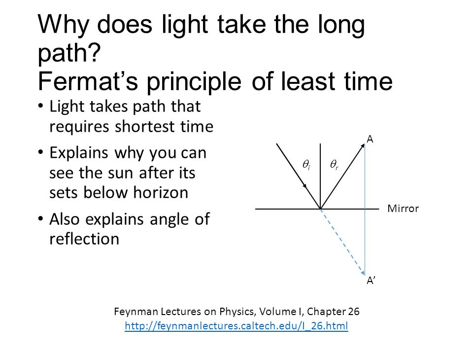 Why does light take the long path.