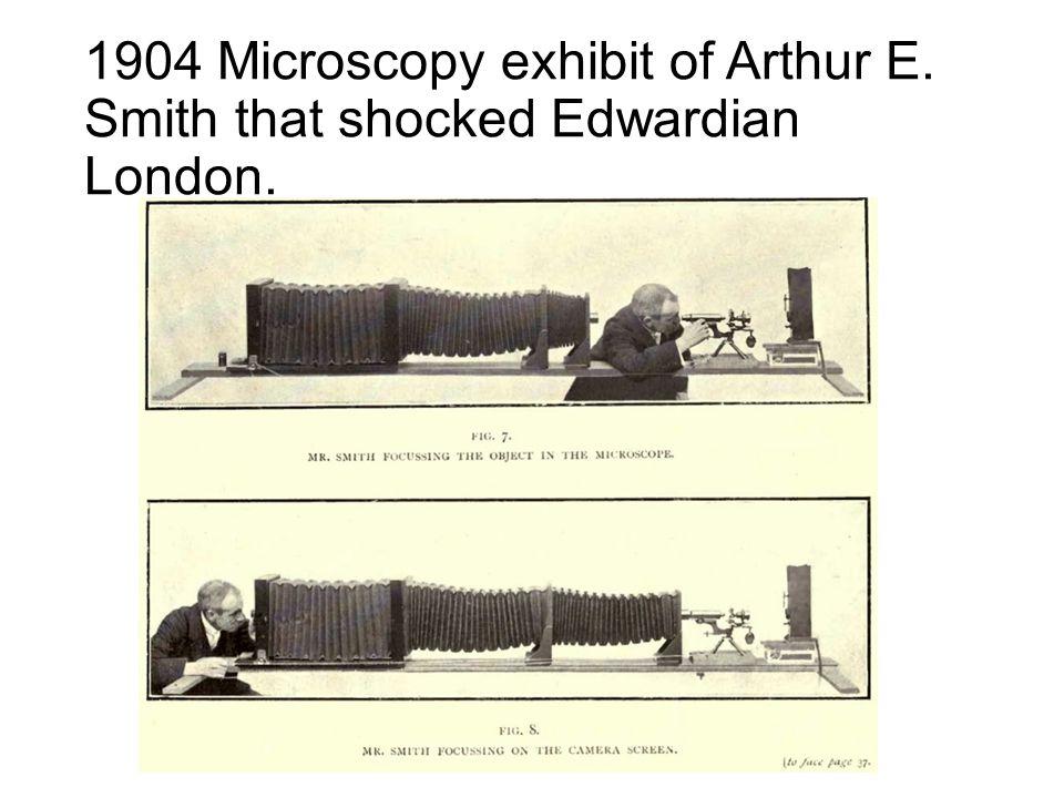 1904 Microscopy exhibit of Arthur E. Smith that shocked Edwardian London.