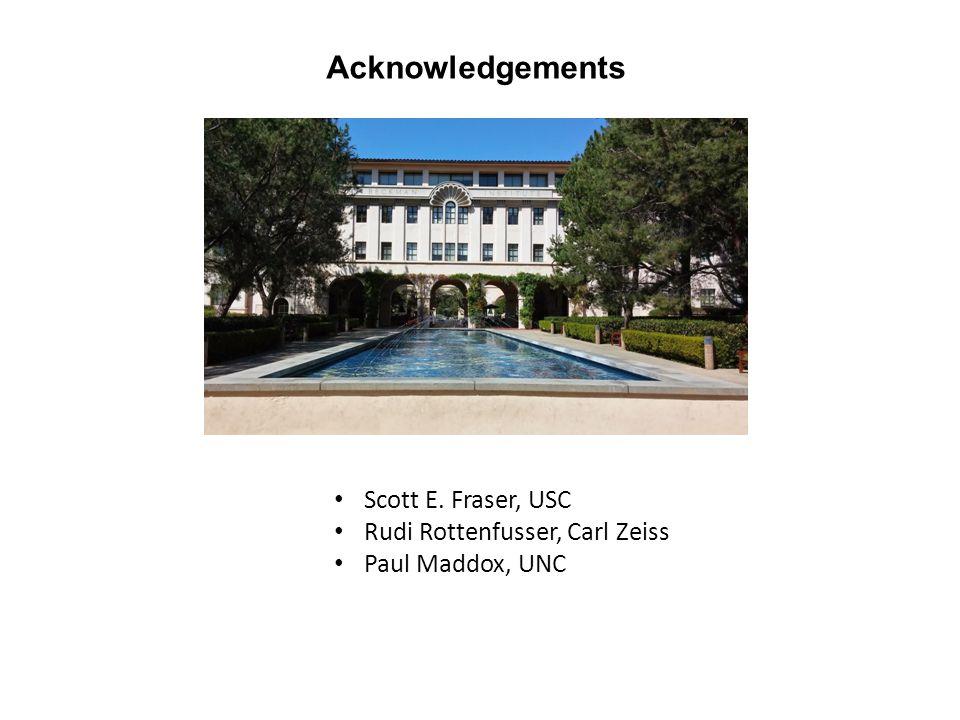 Acknowledgements Scott E. Fraser, USC Rudi Rottenfusser, Carl Zeiss Paul Maddox, UNC