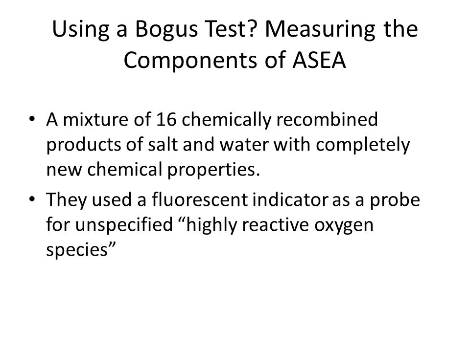 Using a Bogus Test.