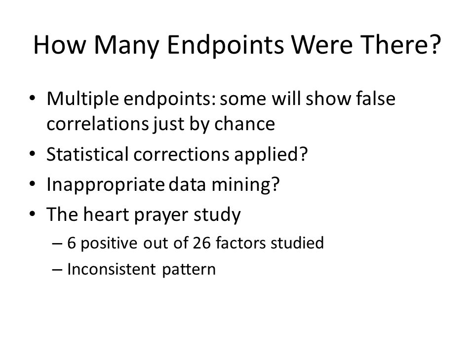 How Many Endpoints Were There.