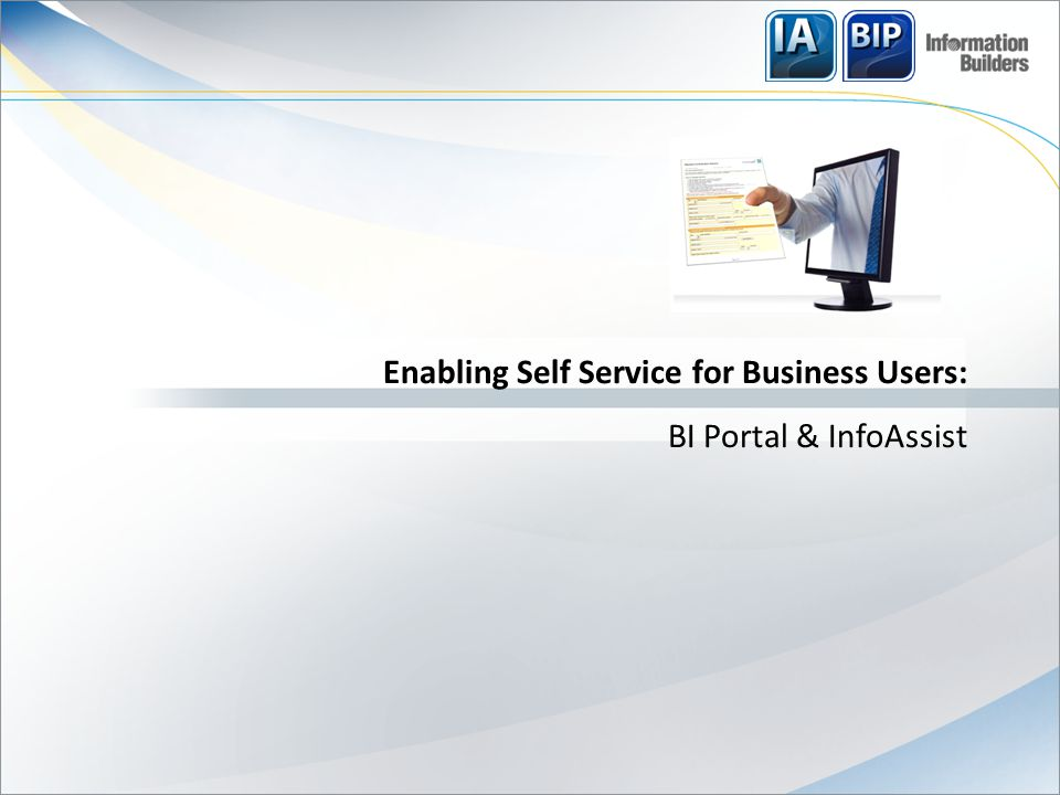 The Self Service Trend: Hype & Reality  Self-Service is the new management fad: banking, retail, telecom, BI….