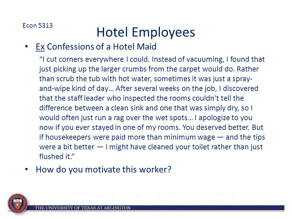 """Hotel Employees Ex Confessions of a Hotel Maid """"I cut corners everywhere I could. Instead of vacuuming, I found that just picking up the larger crumbs"""