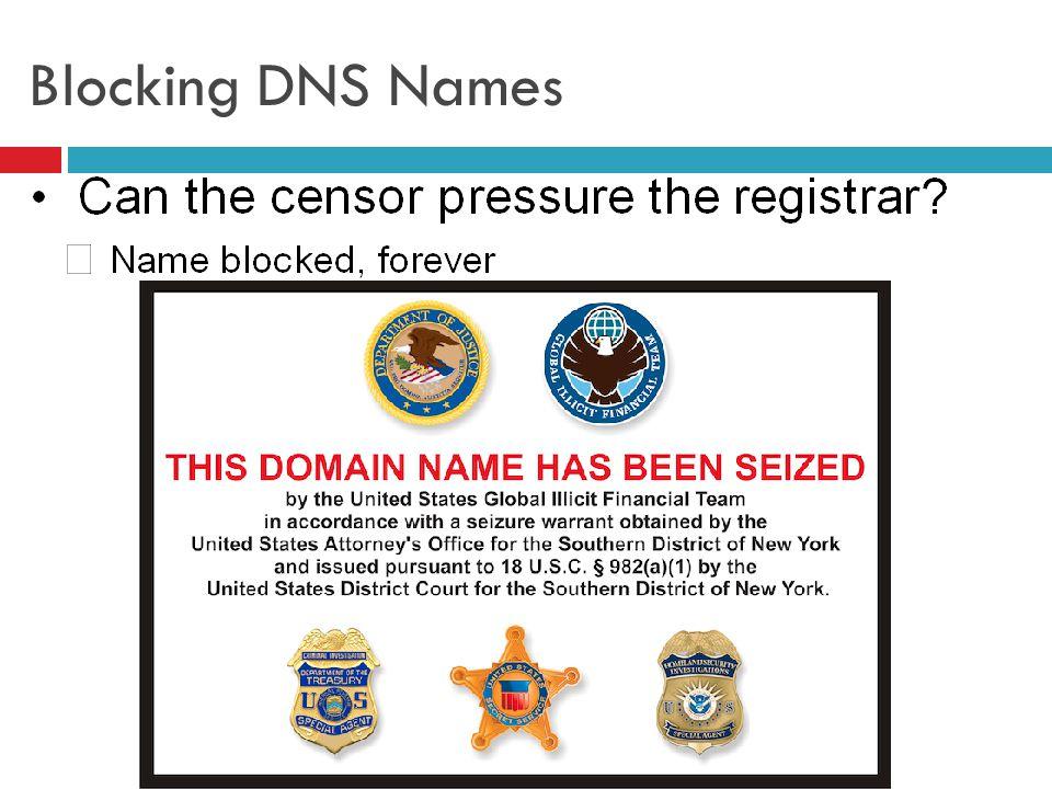 Blocking DNS Names