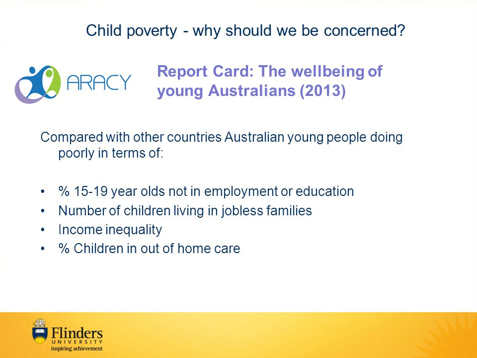 Child poverty - why should we be concerned.