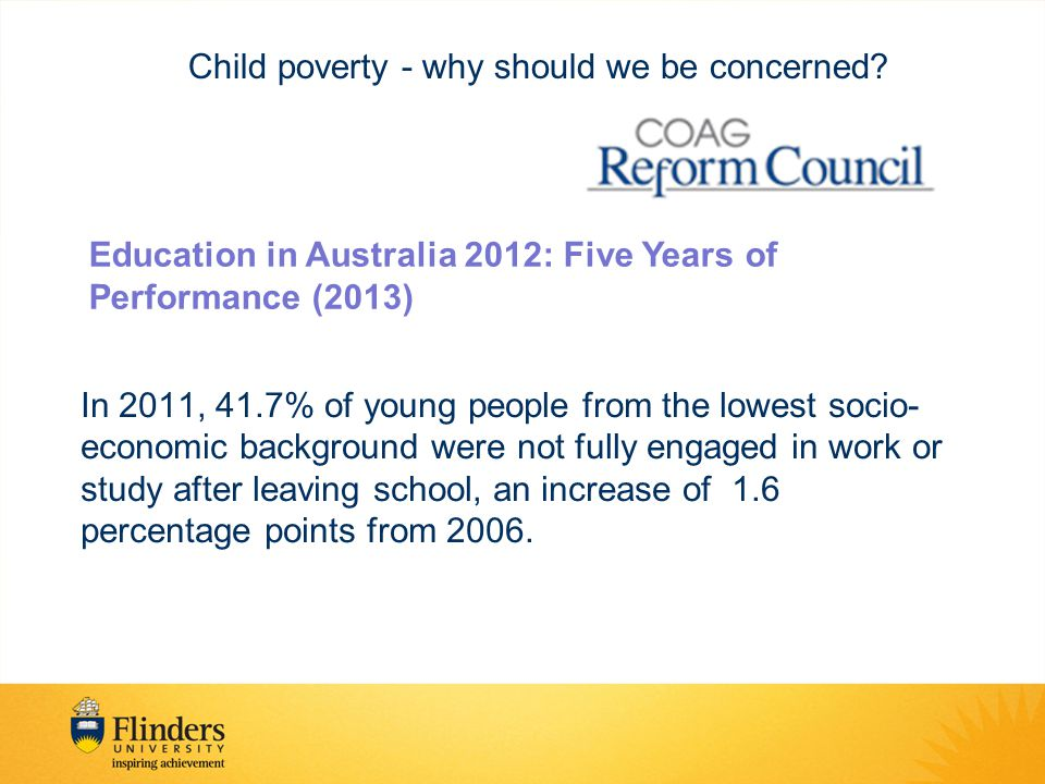 By 1990, no Australian child will be living in poverty. Child poverty – an issue for policymakers?