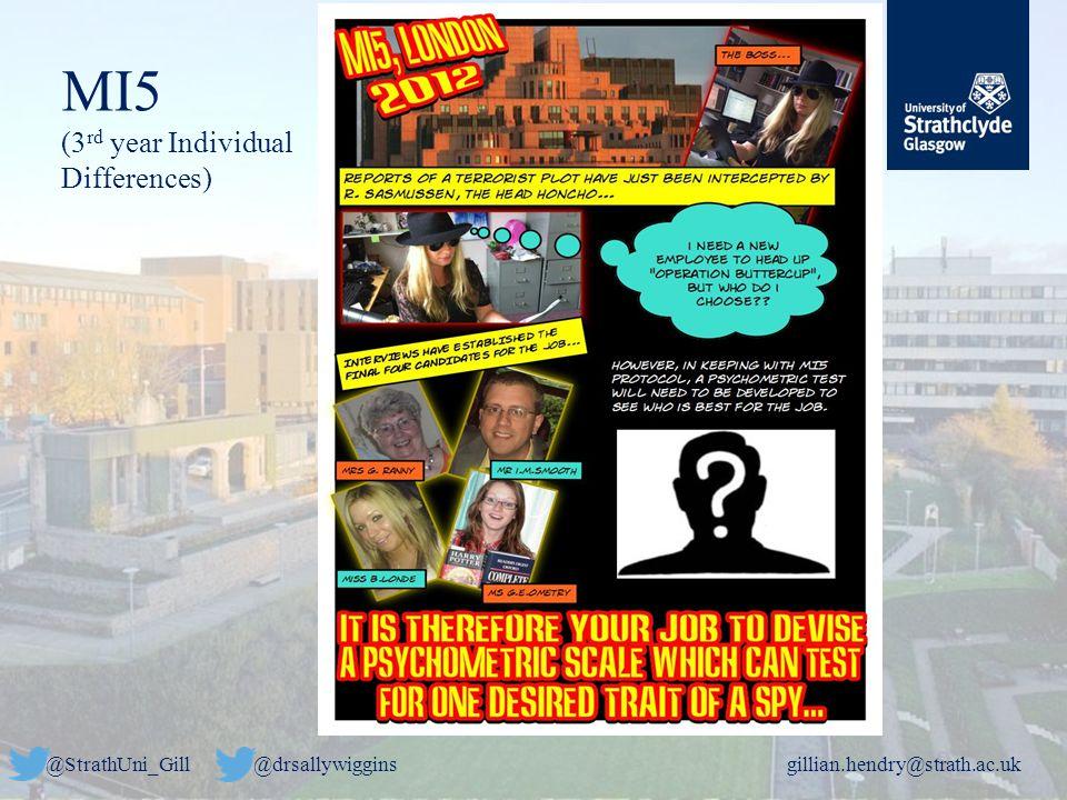 @StrathUni_Gill@drsallywigginsgillian.hendry@strath.ac.uk MI5 (3 rd year Individual Differences)
