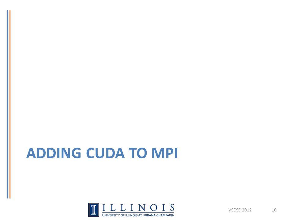 ADDING CUDA TO MPI VSCSE 201216