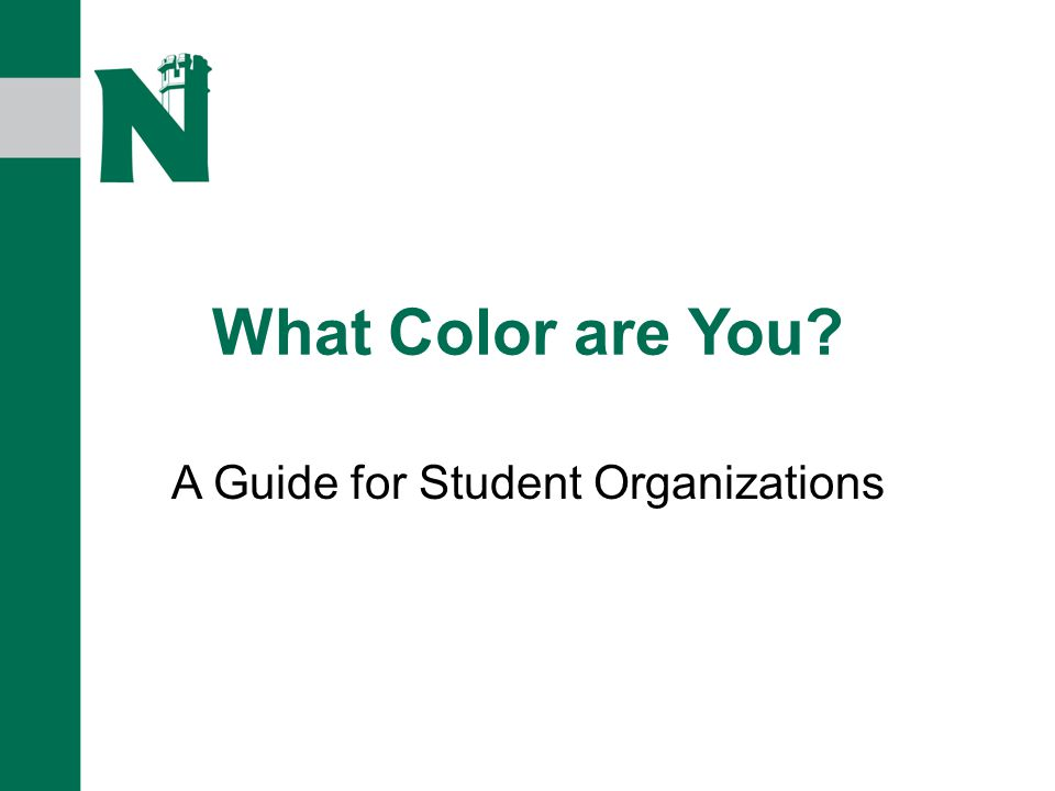 What Color are You A Guide for Student Organizations