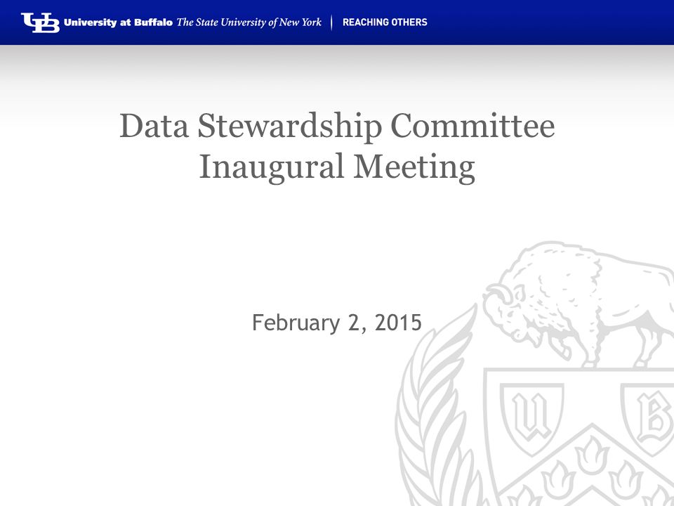 Data Stewardship Committee Inaugural Meeting February 2, 2015