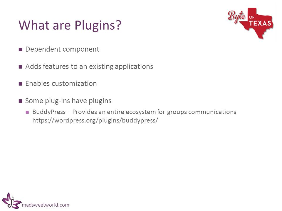 madsweetworld.com What are Plugins.