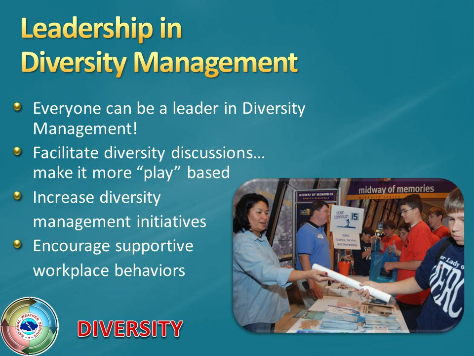 Everyone can be a leader in Diversity Management.
