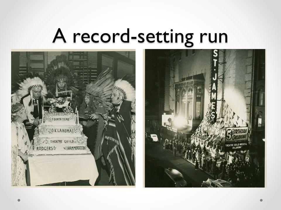A record-setting run