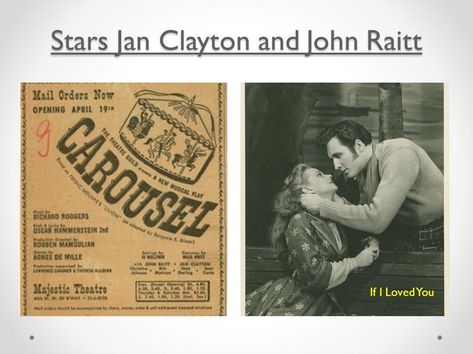 Stars Jan Clayton and John Raitt Stars Jan Clayton and John Raitt If I Loved You