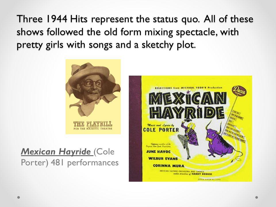 Three 1944 Hits represent the status quo.