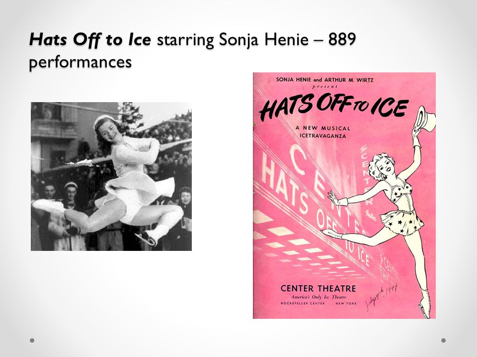 Hats Off to Ice starring Sonja Henie – 889 performances