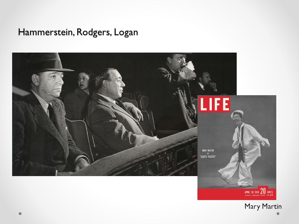 Hammerstein, Rodgers, Logan Mary Martin