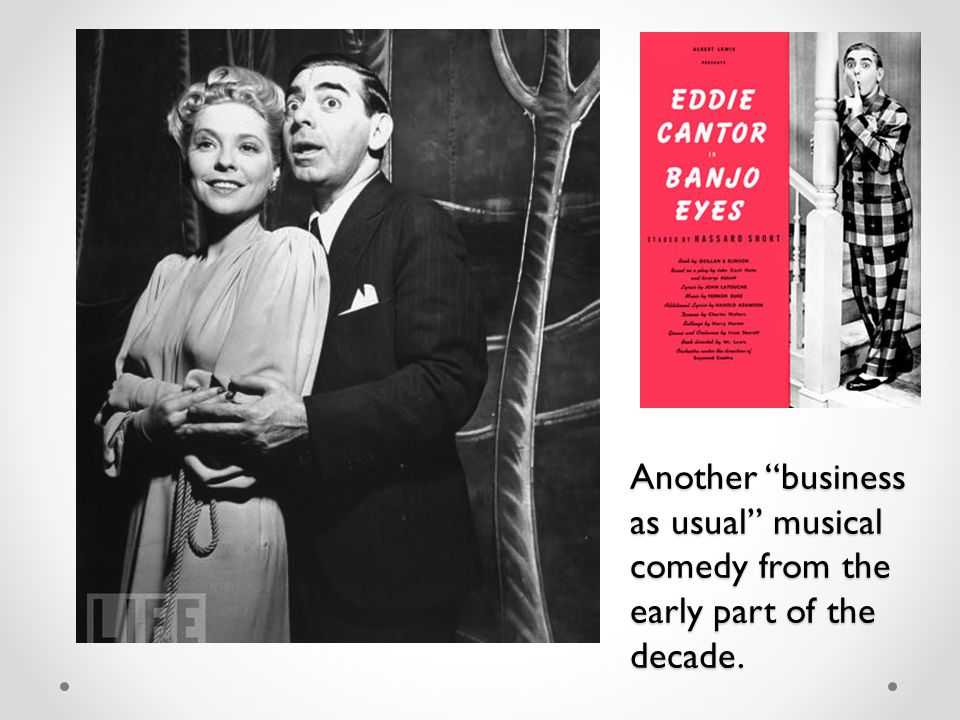 """Another """"business as usual"""" musical comedy from the early part of the decade."""